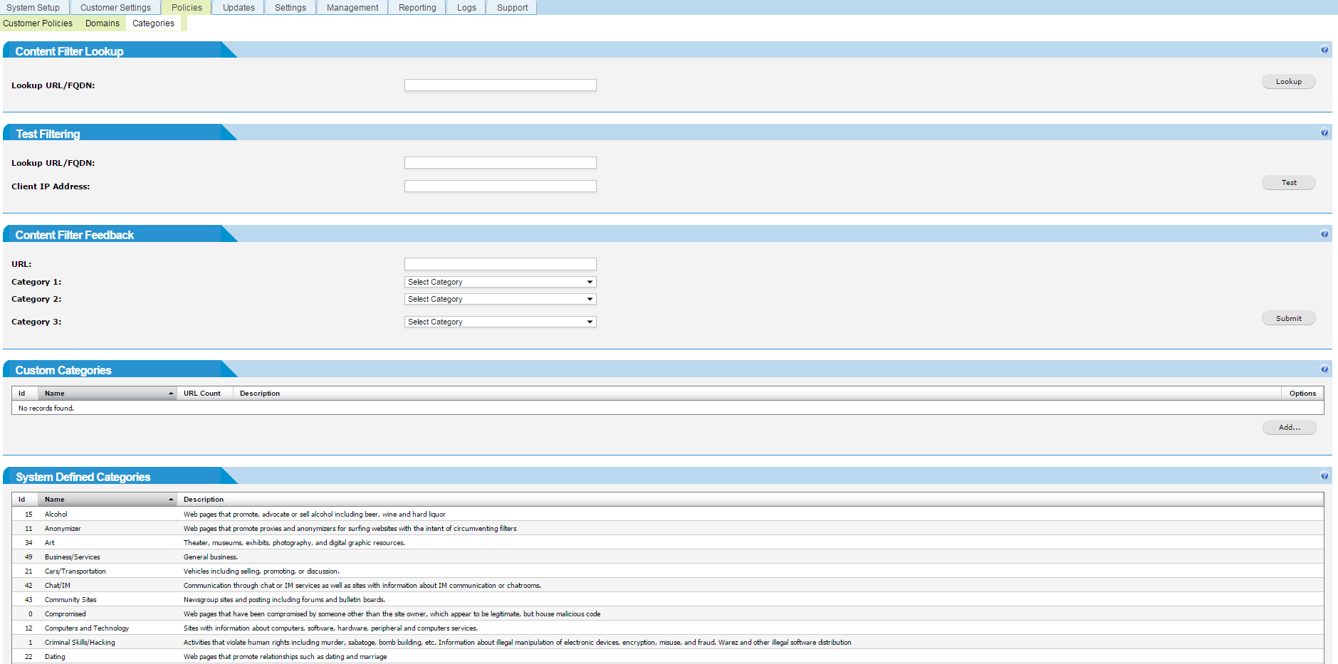 Web Content WiFi Filter for CIPA Compliance